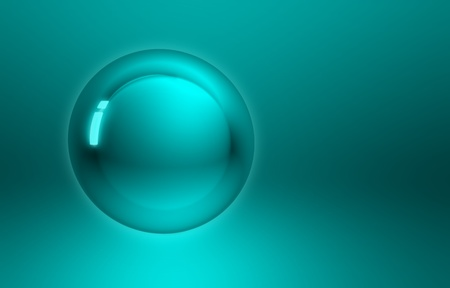 blue green button sphere abstract background with copyspace photo