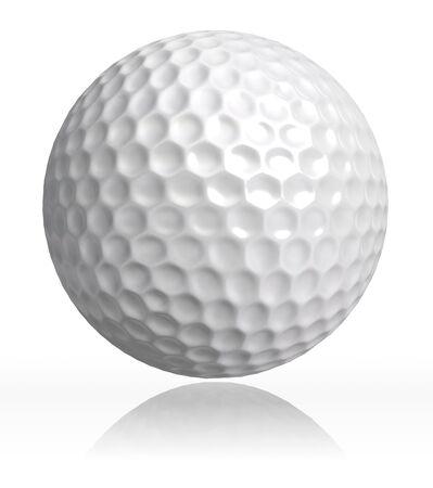 pelota de golf: pelota de golf sobre fondo blanco.