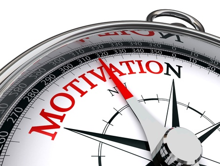 motivation red word indicated by compass conceptual image on white background Stock Photo - 16217554