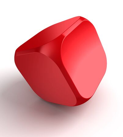 red cube dice on white background. photo