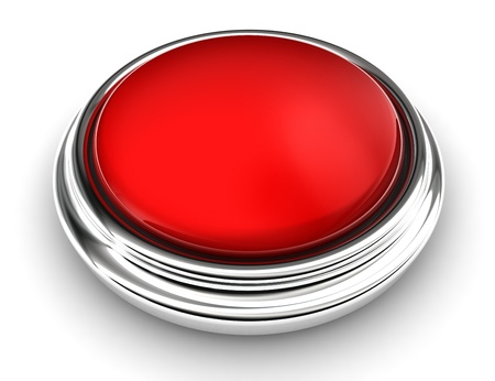 empty red button on white background.  photo