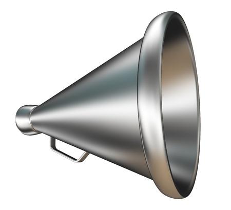 retro metal bullhorn bullhorn on white background  Reklamní fotografie