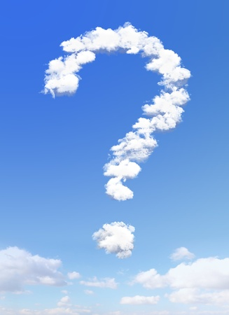question mark shape of clouds on sky background Stock Photo - 18454363