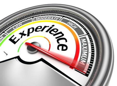 customer services: experience conceptual meter indicate maximum, isolated on white background