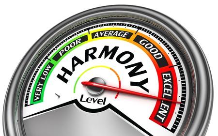 work life balance: harmony conceptual indicator isolated on white background Stock Photo