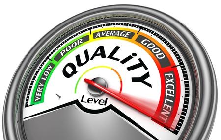 indicateur de niveau de qualité maximal indiquer, isolé sur fond blanc Banque d'images