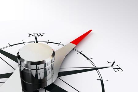 kompas: kompas růže a magnetická jehla na bílém pozadí