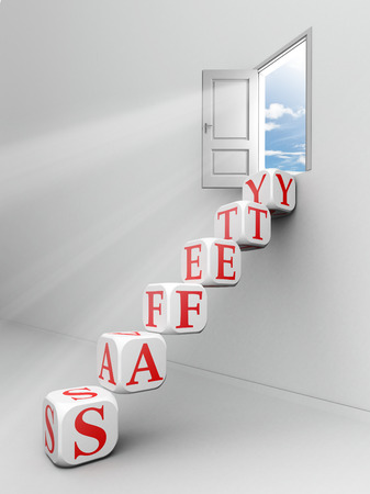 safety message: safety word blocks up to open door out o f white room