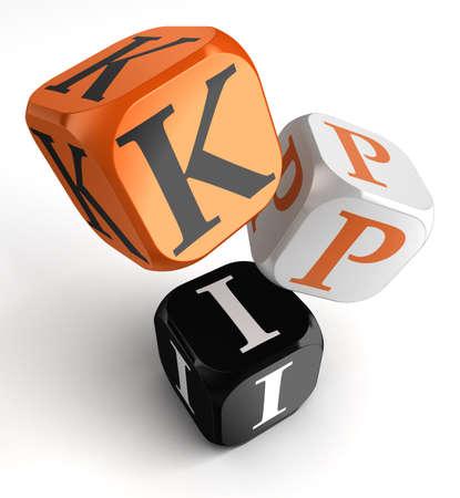 kpi dice blocks, key performance indicator photo