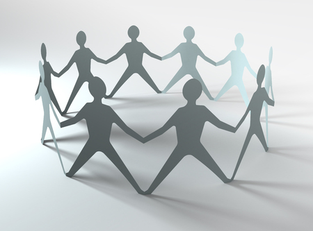 hands in: people team in a circle holding hands, conceptual image