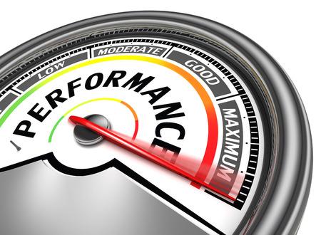 Performances compteur conceptuel indiquer maximale, isolé sur fond blanc Banque d'images - 28984274