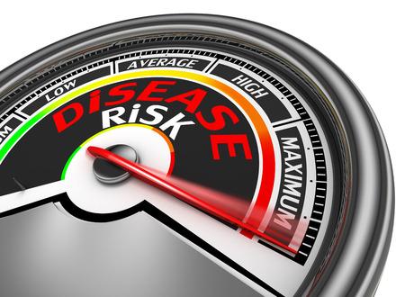 diabetes: metros conceptual riesgo de enfermedad indican m�ximo, aislado en fondo blanco