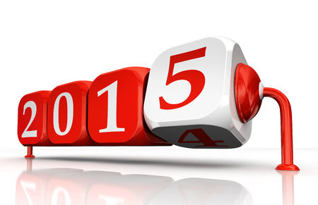 new year 2015 change block dice concept photo