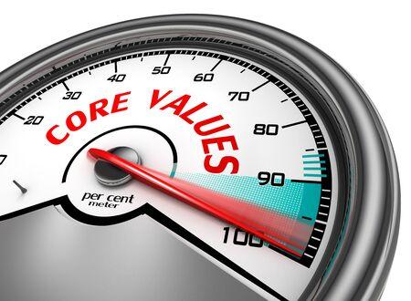 nucleo: Valores fundamentales a cientos de metros ciento conceptual por, aisladas sobre fondo blanco