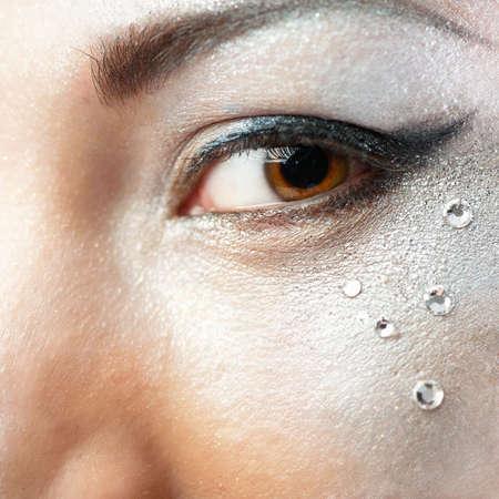 Beautiful woman`s open eye. Closeup. Stock Photo - 7830877