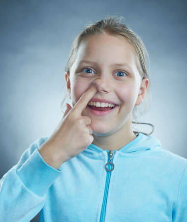 Funny girl with dumb face  Stock Photo - 15888304