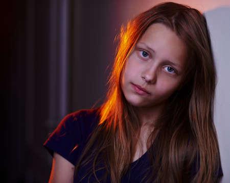 Portrait of a depressed teen girl Zdjęcie Seryjne