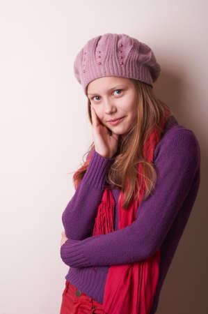 cute teen girl: Portrait of a lovely cute teen girl