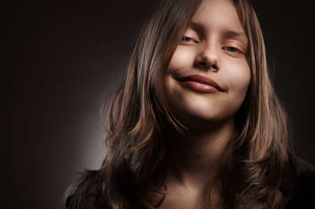 cute teen girl: Portrait of a cute teen girl, studio shot
