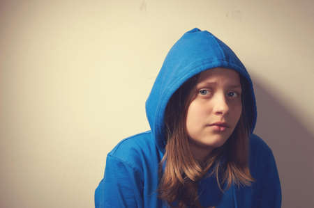 Teen girl afraid of violence