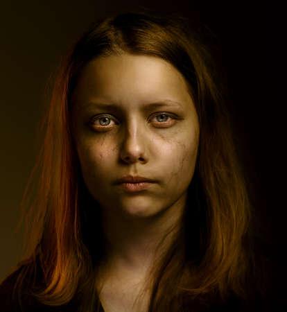 Depressed upset sad teen girl Zdjęcie Seryjne