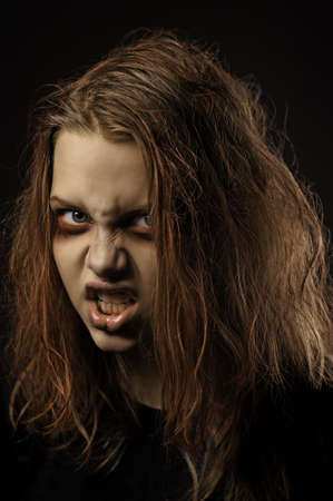 scarry: Mentally ill girl. Demon possession