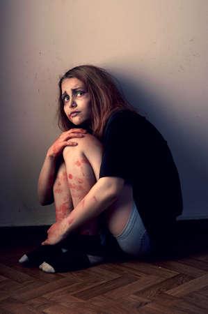 necromancy: Mentally unbalanced woman prone to violence