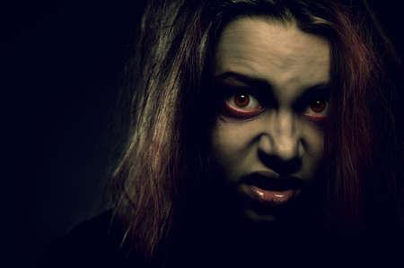 Mentally ill girl. Demon possession