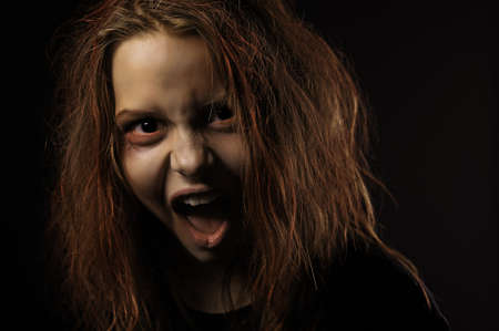 abomination: Shouting teen girl possessed by a devil