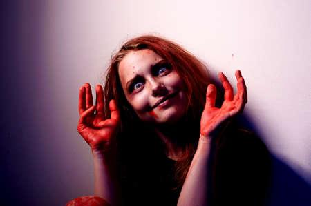 Mentally unbalanced woman prone to violence