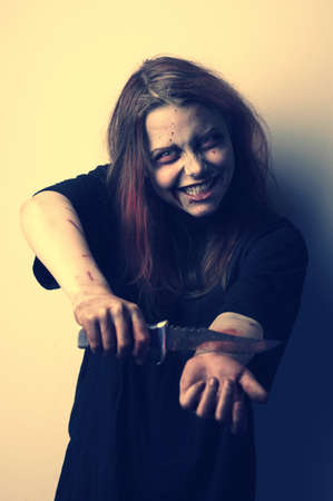 commits: Psycho girl commits suicide with sinister smile