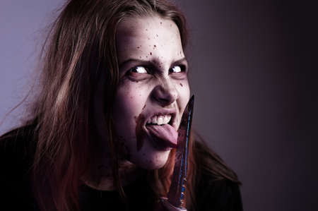 haunt: Girl possessed by a devil cuts tongue