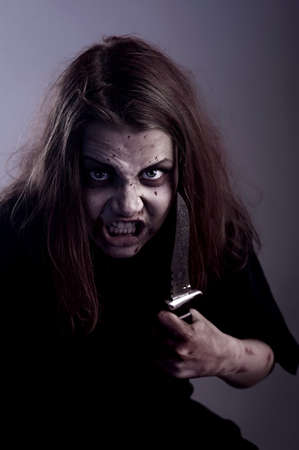 sectarian: Psycho girl possessed by a demon with knife