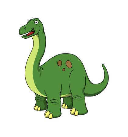 brachiosaurus: Vector happy brachiosaurus Illustration