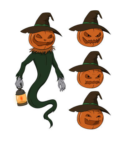 jack o' lantern: Halloween character - Jack o Lantern