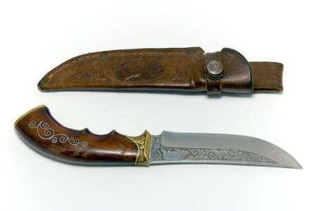 Hunting knife handmade. Used by hunters, fishermen, tourists