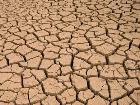 nieużytki: Jezioro Parched. PÄ™kniÄ™cia na suchym lÄ…dzie na pustyni.