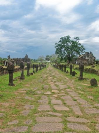 Vat Phou ceremonial stone road