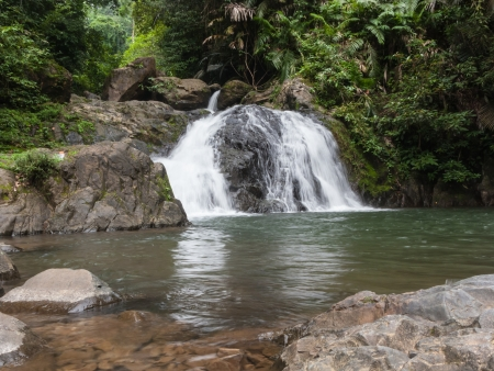 The 2nd level of Khlong Kaeo Waterfall National Park in Trat Thailand Stock Photo - 14435186