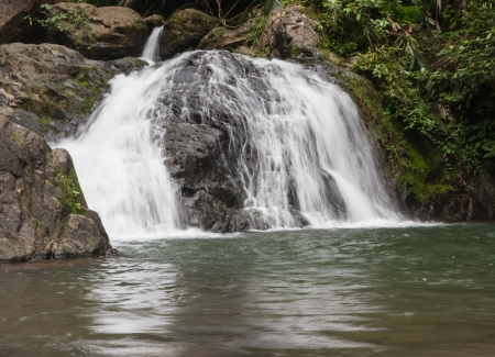 The 2nd level of Khlong Kaeo Waterfall National Park in Trat Thailand