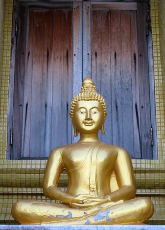 Statue of Buddha at Laem Sor Pagoda, Samui Island Thailand