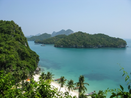 Viewpoint from 50 meters high of Ko Wua Talab in Mu Ko Ang Thong Marine National Park, Samui Island,Surathani, Thailand photo