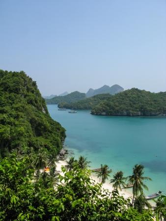 Viewpoint from 50 meters high of Ko Wua Talab in Mu Ko Ang Thong Marine National Park, Samui Island,Surathani, Thailand photo