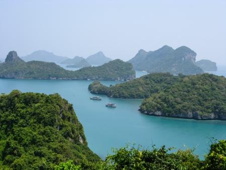 Viewpoint from 150 meters high of Ko Wua Talab in Mu Ko Ang Thong Marine National Park, Samui Island,Surathani, Thailand