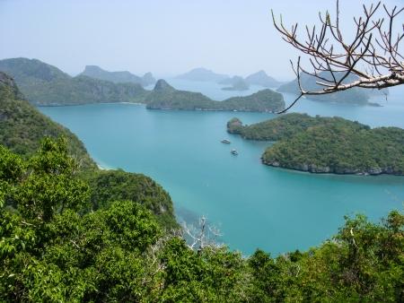 angthong: Viewpoint from 350 meters high of Ko Wua Talab in Mu Ko Ang Thong Marine National Park, Samui Island,Surathani, Thailand