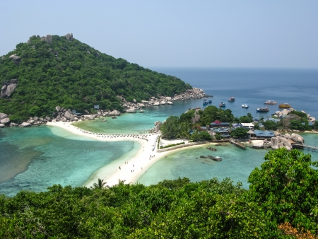 The highest viewpoint of Nangyuan Island, Surathani, Thailand Stock Photo - 14489921