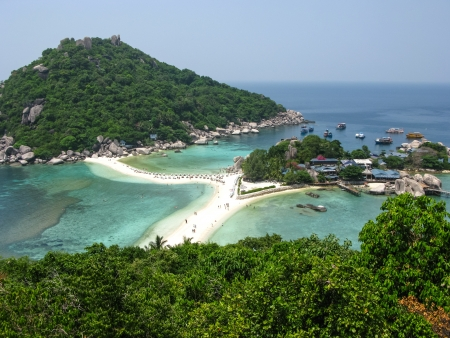 The highest viewpoint of Nangyuan Island, Surathani, Thailand photo