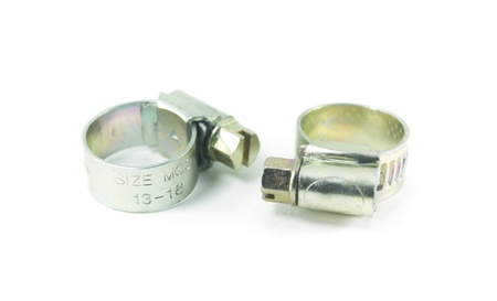 Hose clamps isolated