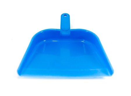 Blue plastic dustpan isolated Stock Photo