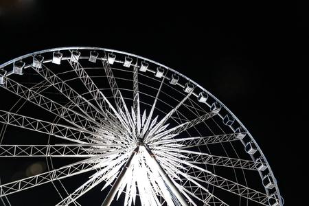 Big Wheel with lighting at night Stock Photo - 22467349